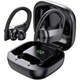 SHENXI Auriculares Bluetooth,Auriculares Inalambricos Deportivos, IPX7 Impermeable Cascos Bluetooth In-Ear Auriculares Wirele