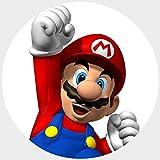 Tortenaufleger Tortenfoto Aufleger Foto Bild Super Mario Bros rund ca. 20 cm (9) *NEU*OVP*
