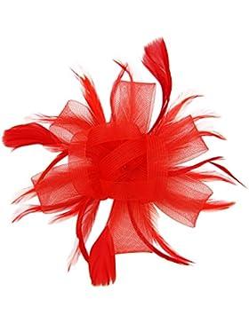 Diadema con tocado desmontable de plumas y flores con clip para el pelo de HowYout; para boda, fiesta novia, fiesta...
