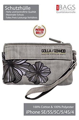 Golla Hülle***TOP-Premium***Handy Tasche ! Ewige Klassiker ! 140x80x8 mm für iPhone SE/5/5C/5S (NepalDenim Gray)