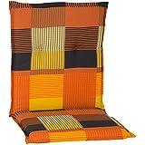 nxtbuy Gartenstuhl-Auflage Barcelona 100x50 cm Orange Patchwork 4er Set - Niedriglehnerauflage für...