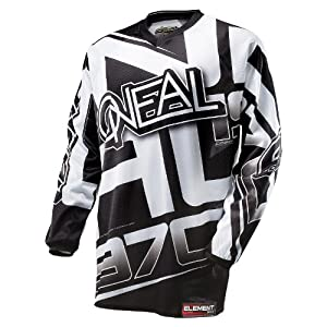 51anKvGmwML. SS300 O' Neal Element Jersey Racewear Nero Bianco Moto Cross Downhill Motor Ciclismo DH MX, 0016r 10