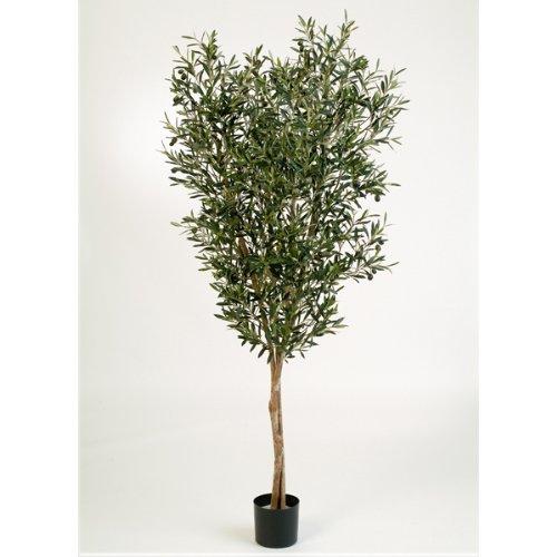 artplants – Deko Olivenbaum PHILIPOS, 1976 Blättern, 120 cm – künstlicher Baum/Olivenbaum künstlich