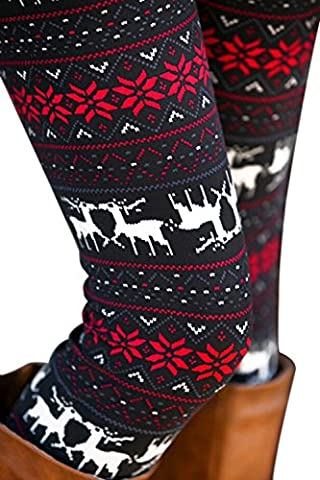 YONMAX Leggings Winterleggings Norweger gefüttert Strumpfhose Thermo Teddy Fleece verschiedene Muster