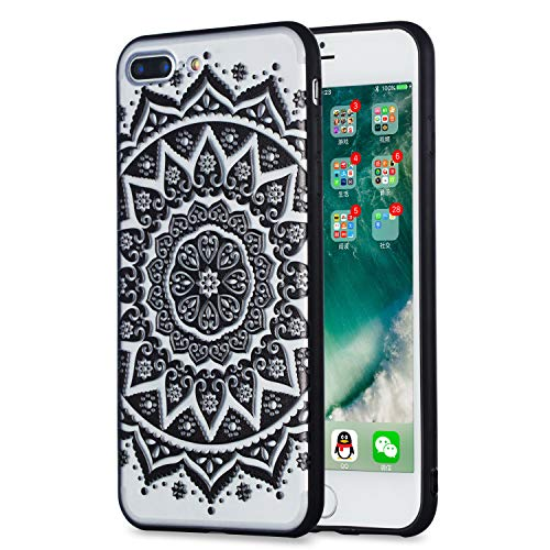 Klassikaline iPhone 8 Plus Hülle, Transparent Erleichterung Handy Hülle Schutzhülle Etui Bumper für iPhone 8 Plus - QC-01