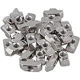 BQLZR - Tuercas de martillo (acero, carbono, en T, para estándar europeo 40, aluminio, extrusión, 30 unidades), color plateado, plateado, BQLZRN22265