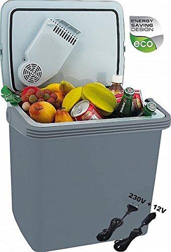 2in1 Kühlbox | Kühltasche | Thermobox | Isoliertasche Warmhaltebox | Auto Camping Outdoor Kühlbox & Warmhaltebox |Tragegriff | 12 Volt und 230 Volt (24 Liter)