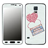 Disagu SF-105742_916 Design Skin für Samsung Galaxy S5 - Motiv Mixtape_Herz_blau