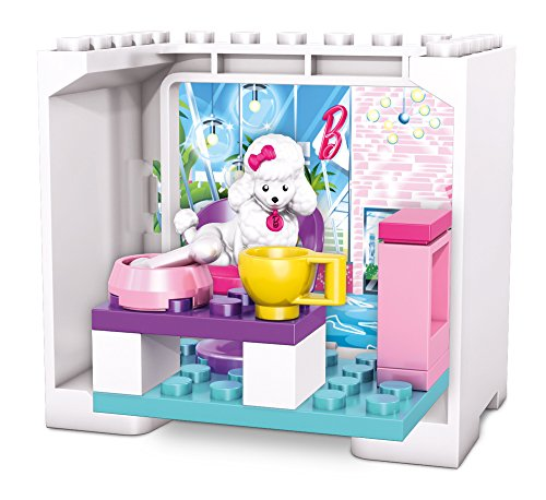 Mega Bloks Barbie Coffee Shop Poodle Building Set