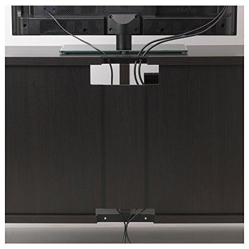 Ikea Besta Tv Storage Combinationglass Doors Black Brown