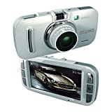 BUIEJDOG Car Dash Cam 3 Inch Full HD 1296P with GPS 170 Degree Wide Angle Dashboard Camera Recorder Built-in G-Sensor & WDR Superior Night Mode - White