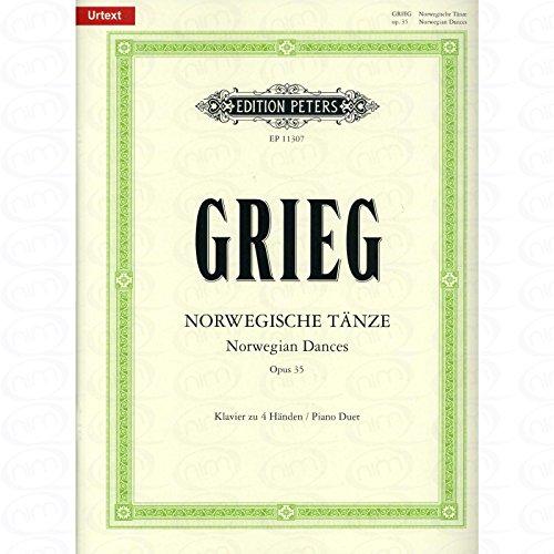 NORWEGISCHE TAENZE OP 35 - arrangiert für Klavier 4händig [Noten/Sheetmusic] Komponist : GRIEG EDVARD