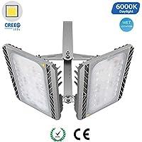 GOSUN® Foco proyector LED 200W para exteriores, CREE SMD5050, 18000lm, blanco diurno 6000K, resistente al agua IP65, luz amplia, luz de seguridad,36 meses garantía