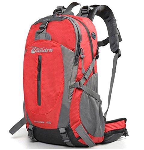Outdoor-Klettern Tasche Männer und Frauen reisen Rucksack Camping mit regen Abdeckung 40L 50L Rot