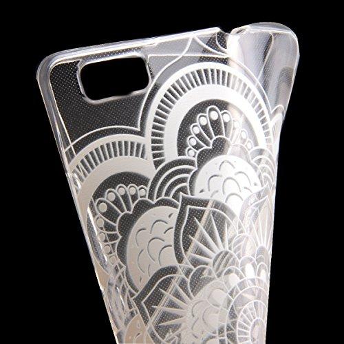 Trasparente TPU Custodia Case per iphone 5C - ISAKEN ultra sottile Silicone Custodia Morbido Flessibile case cover Protettivo Skin UltraSlim TPU Caso per Apple iphone 5C (tarassaco) fiori #6