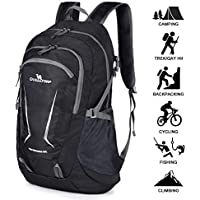 Loocower 45L Packable Ultralight Hiking Backpack, Lightweight Multi-functional Casual Camping Trekking Rucksack Cycling Travel Climbing Mountaineer Outdoor Sport Daypack Bag