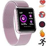 Bluetooth Smartwatch, Fitness Uhr Intelligente Armbanduhr Fitness Tracker Smart Watch Sport Uhr mit Kamera...