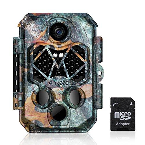 ENKEEO 20MP 1018P Wildkamera mit 32GB Speicherkarte, PH770 Jagdkamera Fotofalle IP66 Wasserdicht Überwachungskamera mit 45pcs 940nm IR LEDs, 20m Nachtsicht, 120° Weitwinkel, 0,2s Triggerzeit