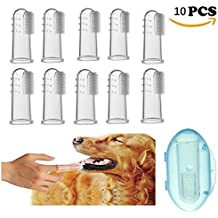 Cepillo de dientes de dedo para perros o gatos mascota. Material de silicona de calidad