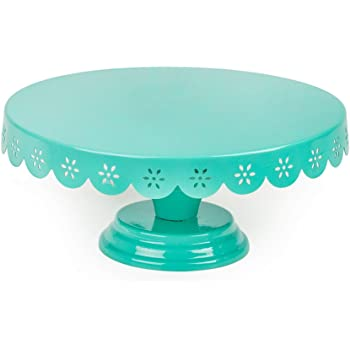 Chumbak Lacy Doily Cake Stand - Teal