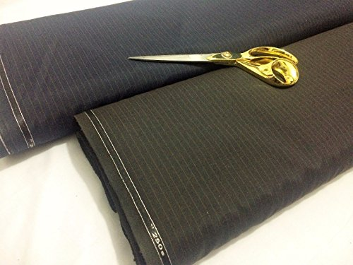 Wolle Nadelstreifen Passend (Top Qualität English Superfine 250S Nadelstreifen Wolle Blend Coat/passend fabric2 dunkelbraun)
