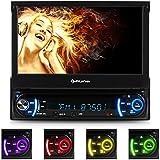 auna MVD-240 autoradio multimedia (avec bluetooth, ecran retractable 18cm, lecteur DVD, port USB et SD compatible MP3, tuner FM, kit mains libres et télécommande)