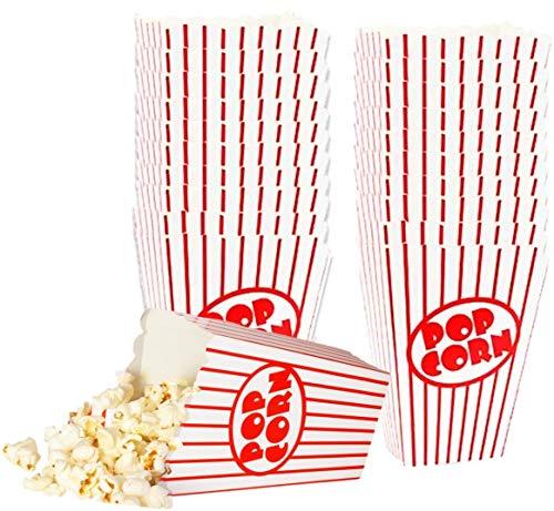 (Kino Kleine Popcorn-Boxen–Papier Popcorn Boxen gestreift rot und weiß–ideal für Film Nacht Oder Film Party Thema, Theater Motto Dekorationen oder Karneval Party Circus etc.. (40))