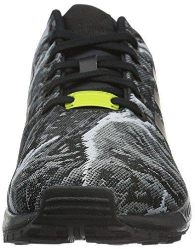 adidas ZX Flux Weave, Scarpe da Corsa Uomo Schwarz (Core Black/Core Black/Bright Yellow)