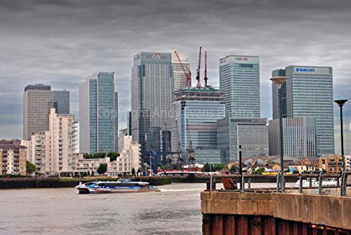 photograph-an-18x12-photographic-print-of-canary-wharf-river-thames-and-a-clipper-boat-london-dockla