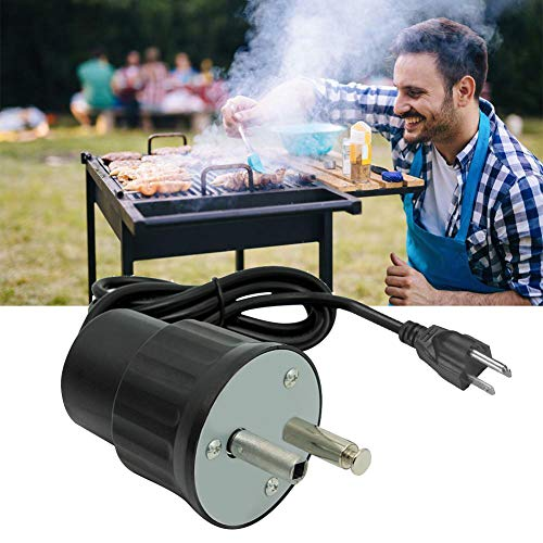 SDGDFXCHN BBQ Motor Solide Langlebig Tragbare Energiesparende Braten Grill Rotator Outdoor Grill Werkzeug Picknick Zubehör (Tragbares Outdoor-grill)