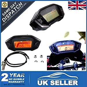 Digital LCD Odomètre Tachymètre Mètre Compteur Vitesse Jauge Pr 12V Moto VTT UTV