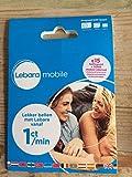 Lebara NL Prepaid 3 in 1 4G sim card mit 50% Rabatt auf 1. Aufladung and €5 + 50MB internet karte Netherlands Holland Niederlande