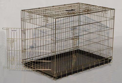 Transportkäfig, Käfig, Kennel, Hundebox, Hundebox aus Metall -M- 77,5 x 48,5 x 57cm