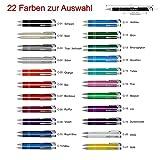 12 Kugelschreiber mit Gravur, COSMO, Lasergravur nach Wunsch, individuelle Werbeartikel