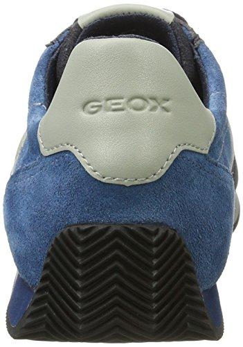 Geox Herren U Vinto B Sneaker Schwarz (Black/Blue)