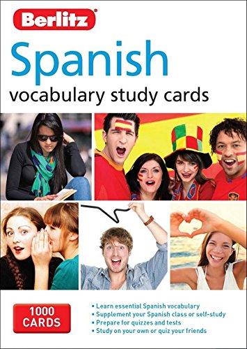 Berlitz Language: Spanish Study Cards (Berlitz Vocabulary Study Cards)