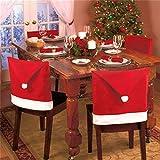 2X coprisedie copri sedia sedie Cappello Babbo Natale decorazione set tavola (1 lotto comprende 2 pezzi)