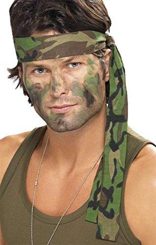 Stirnband der Plane (Einfach Rambo Kostüm)