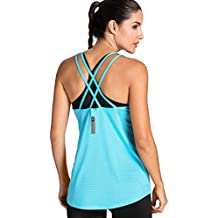 Meliwoo - Camiseta Deportiva de Tirantes Prendas Deportivas Para Mujer