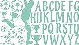 GRAZDesign 770053_57_055 Wandtattoo ABC mit Fußball | Für 1. Klasse oder Vorschulkinder | Geschenk zur Einschulung | Lernhilfe mit Wand-Dekoration (100x57cm//055 Mint)