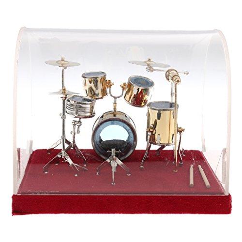 Baoblaze Miniatur Kupfer Schlagzeug Set, Mini Musikinstrument Modell, Zubehör für Action Figur - # 1