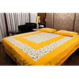 Bombay Spreads 100% Cotton Jaipuri Traditional Print King Size Double Bedsheet With 2 Pillow Cover(Multicolor.....)