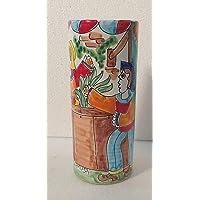 Portabicchieri acqua ceramiche artistiche siciliane realizzate a mano
