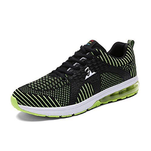 T-gold Hommes Running Sneakers Sports Fitness Running Sneakers Casual Outdoor Gym Vert Chaussures