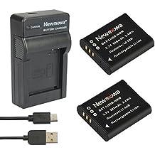 Newmowa® 2x Baterías Li-50B+ Micro USB Cargador kit para Olympus LI-50B y Olympus SZ-10 SZ-12 SZ-15 SZ-16 iHS Sz-20 SZ-30MR SZ31MR iHS TG-610 TG-630 HIS TG-810 TG-820 TG-830 HIS XZ-1 XZ-16 iHS SP-810UZ Stylus Tough TG-860 Digital Camera + More!