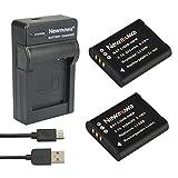 Digital Cameras Best Deals - Newmowa Batterie Li-50B (2) et Chargeur Micro USB Portable Kit pour Olympus LI-50B et Olympus SZ-10 SZ-12 SZ-15 SZ-16 iHS Sz-20 SZ-30MR SZ31MR iHS TG-610 TG-630 HIS TG-810 TG-820 TG-830 HIS XZ-1 XZ-16 iHS SP-810UZ Stylus Tough TG-860 Digital Camera + More