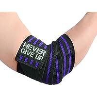 HYFAN Professionelle Ellenbogen-Handgelenkbandagen, 101,6 cm, elastische Ellenbogen-Unterstützung für Gewichtheben, Training, Bodybuilding, Fitness