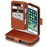 Coque Cuir iPhone 8 / iPhone 7, Terrapin Étui Housse en Cuir Véritable pour iPhone 8 Étui - Cognac