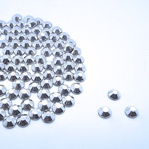 Diamante Me Mine Argent Strass Hotfix 500 par paquet taille 2/3/4 mm 250 mm x 5 mm et 150 x 6 mm, Argent, 4 mm