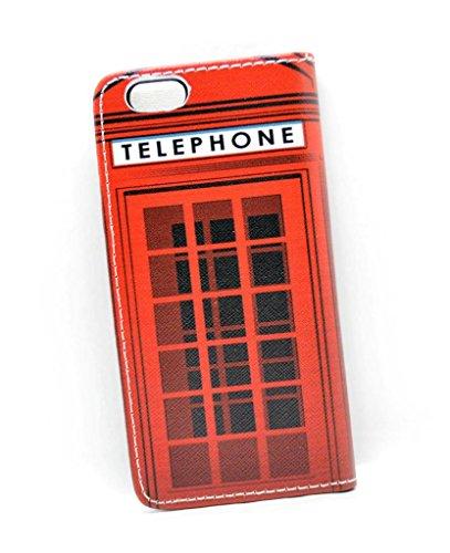 Étui portefeuille iPhone 64.7Housse Red London Telephone Box